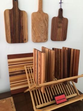 From woodworkers Russell Ooms and Deborah Mendel of Locke, CA